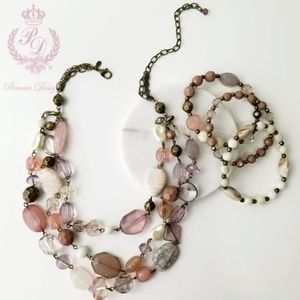 Premier Designs~ Desert Rose Jewelry Set